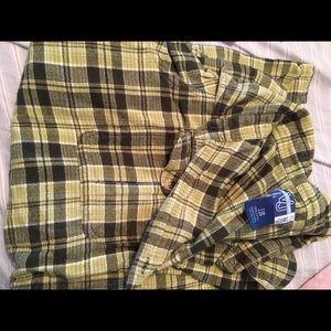 2 button down light flannels,